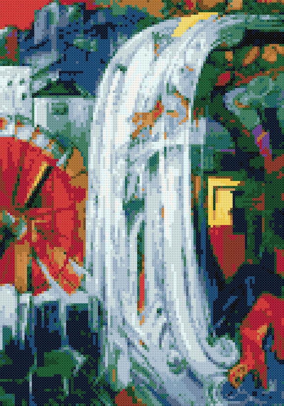 Bewitched mill by Franz Marc cross stitch kit