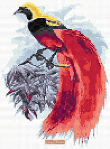 Bird of paradise counted cross stitch kit