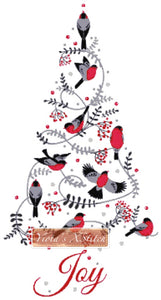 Birds Christmas tree counted cross stitch kit