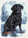 Black labrador (v31) counted cross stitch kit