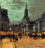 Blackman street London by Grimshaw John Atkinson counted cross stitch kit