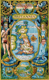 Britannia antique map counted cross stitch kit