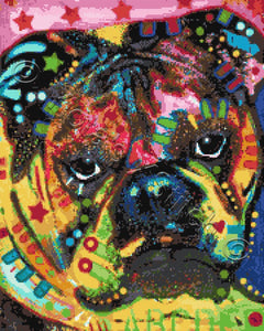 Bulldog (deaexl138435) counted cross stitch kit