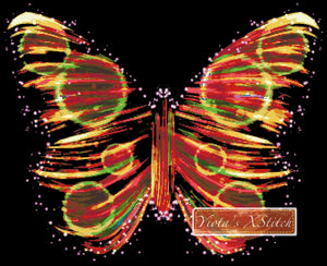 Butterfly fractal counted cross stitch kit