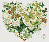 Butterfly heart No2 counted cross stitch kit
