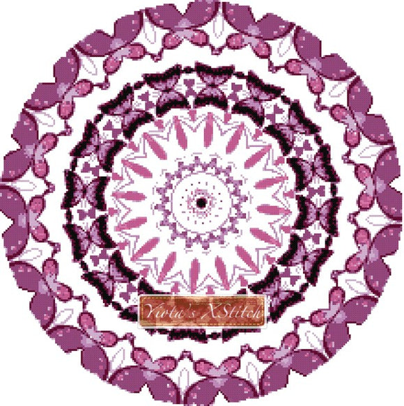 Butterfly mandala counted cross stitch kit