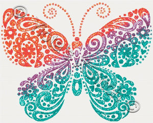 Abstract butterfly sketch counted cross stitch kit