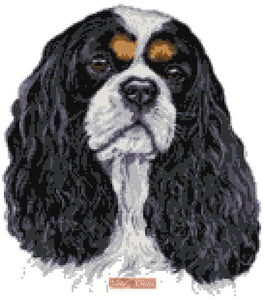 Cavalier King Charles counted cross stitch kit