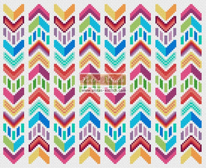 Chevron counted cross stitch kit