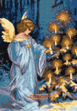 Christmas angel (v2) counted cross stitch kit