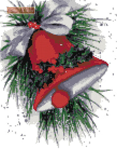 Christmas bell v2 counted cross stitch kit