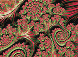 Christmas crazy spirals fractal counted cross stitch kit