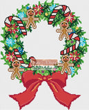 Christmas wreath cross stitch kit