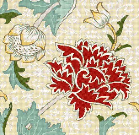 Chrysanthemum by William Morris counted cross stitch kit