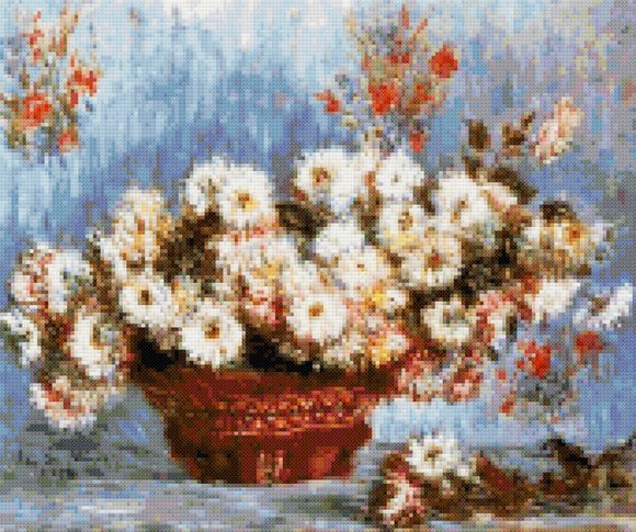 Chrysanthemums by Monet cross stitch kit