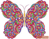 Colourful abstract butterfly counted cross stitch kit