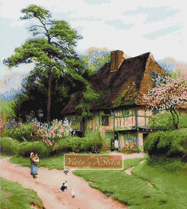 Cottage in Kent counted cross stitch kit