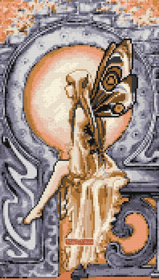 Dawn watcher fairy counted cross stitch kit