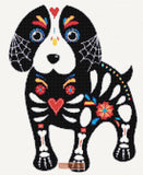Dog sugar skull cross stitch kit