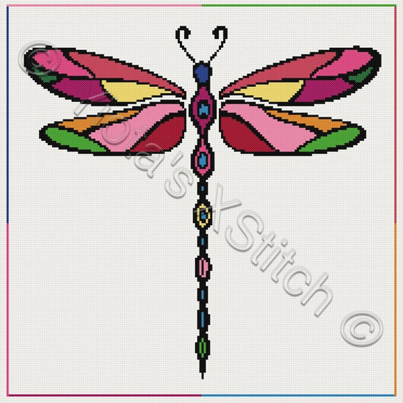 Dragonfly counted cross stitch kit. Great for beginners.