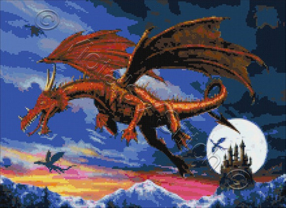 Dragons escape counted cross stitch kit