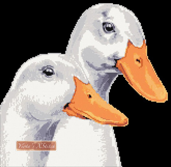 Ducks counted cross stitch kit