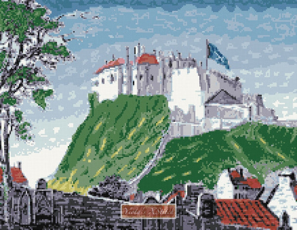 Edinburgh castle counted cross stitch kit