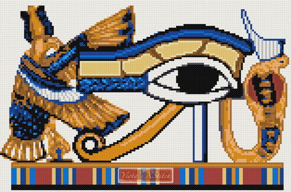 Egyptian eye cross stitch kit
