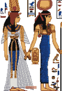 Egyptian queen cross stitch kit