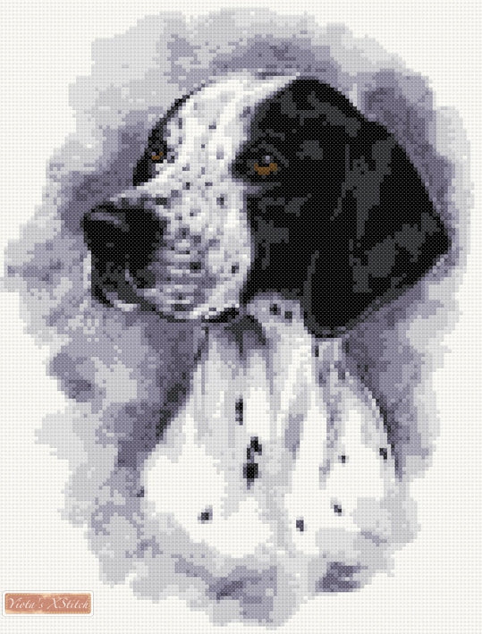 English Pointer counted cross stitch kit