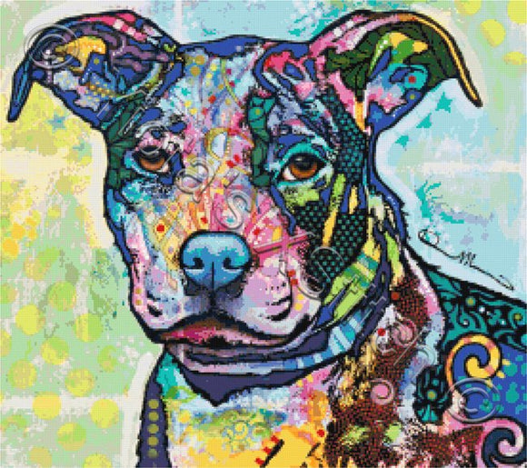 Entrancing pitbull counted cross stitch kit