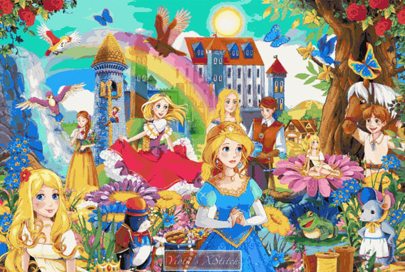 Fairy tale mash up counted cross stitch kit