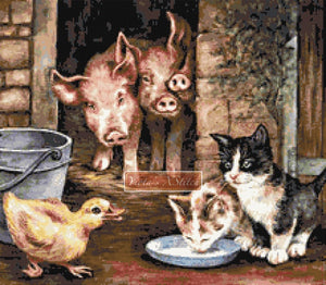 Farmyard friends counted cross stitch kit