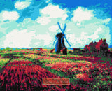 Field of tulips (v2) Monet counted cross stitch kit