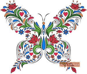 Floral butterfly No3 counted cross stitch kit