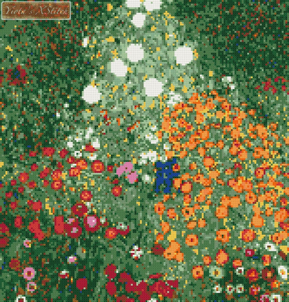 Flower garden by Klimt counted cross stitch kit