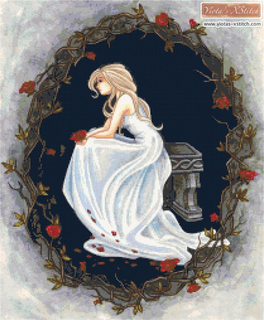 Forlorn lady counted cross stitch kit