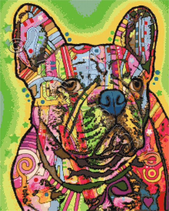 French bulldog Dean Russo counted cross stitch kit