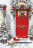 Garland door Christmas counted cross stitch kit