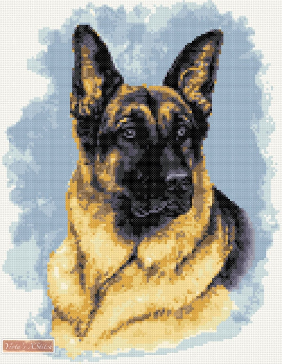 German Shepherd No4 counted cross stitch kit