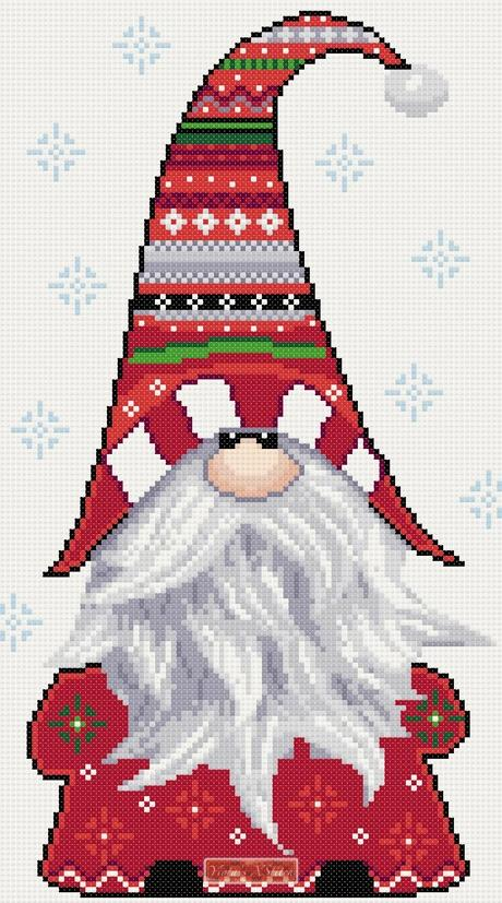 Christmas Gnome counted cross stitch kit