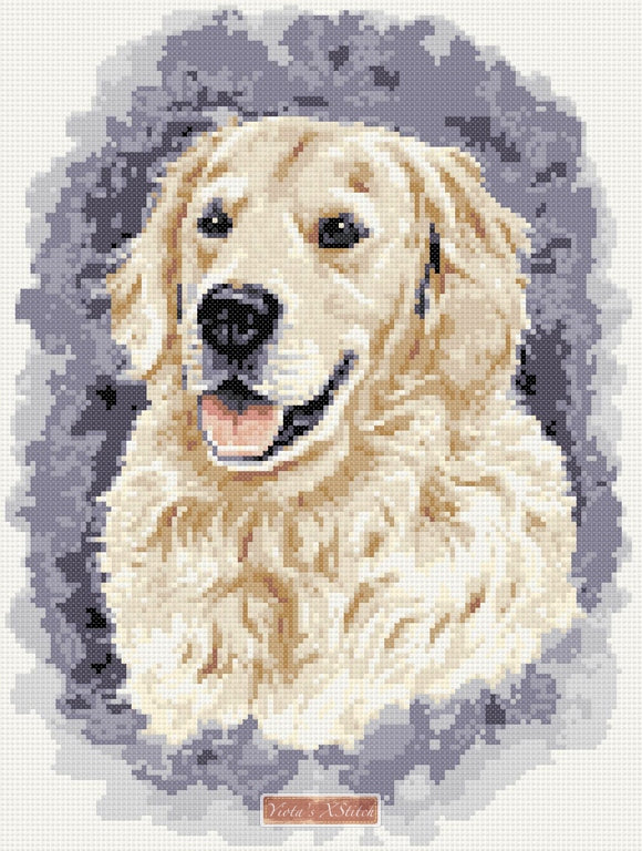 Golden retriever No4 counted cross stitch kit