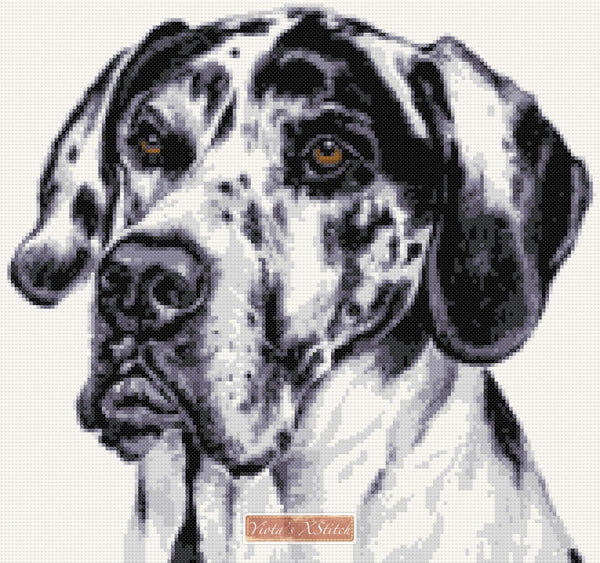 Great Dane counted cross stitch kit