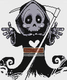 Grim reaper counted cross stitch kit
