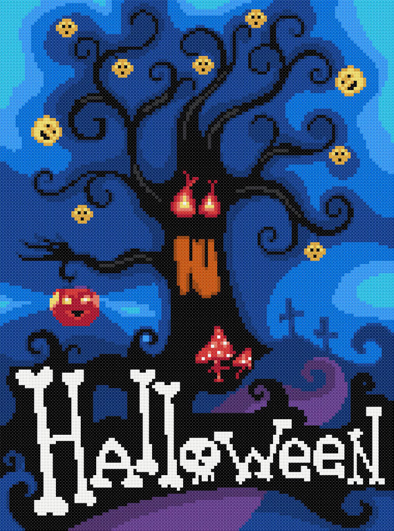 Halloween counted cross stitch kit