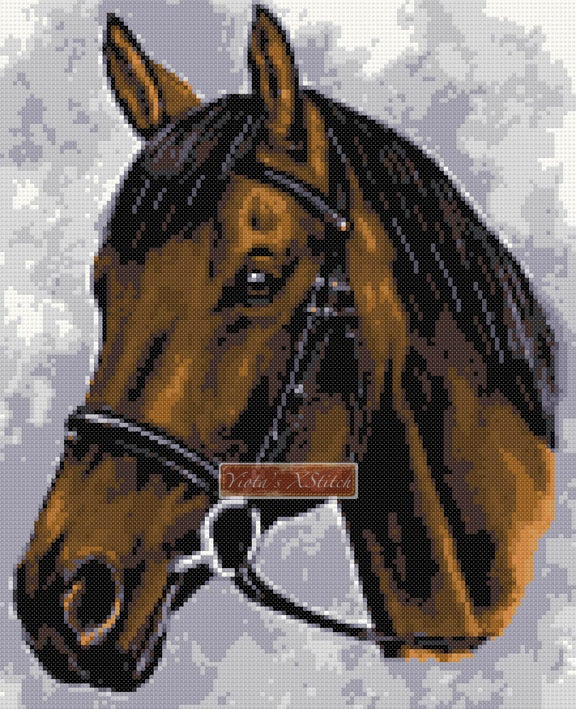 Horse No3 counted cross stitch kit