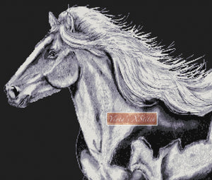 White horse counted cross stitch kit