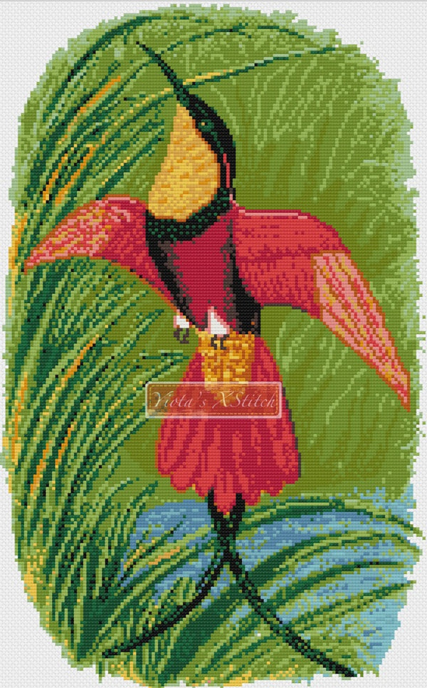 Hummingbird Crimson Topaz counted cross stitch kit