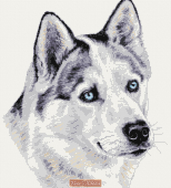 Husky (v2) counted cross stitch kit