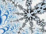 Ice flake fractal counted cross stitch kit